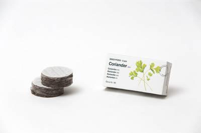 Tregren Herbie and Genie seed pods coriander