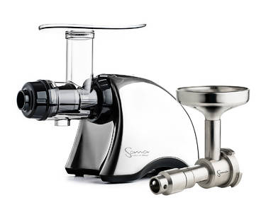 Sana EUJ-707 juicer + oil extractor set chrome