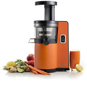 Sana by Omega EUJ-808 vertical juicer orange front