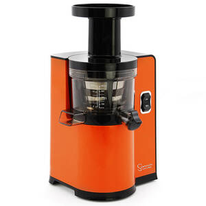 Sana by Omega EUJ-808 vertical juicer orange side