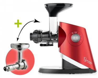Sana Supreme Juicer 727 red + Sana Oil Extractor 702