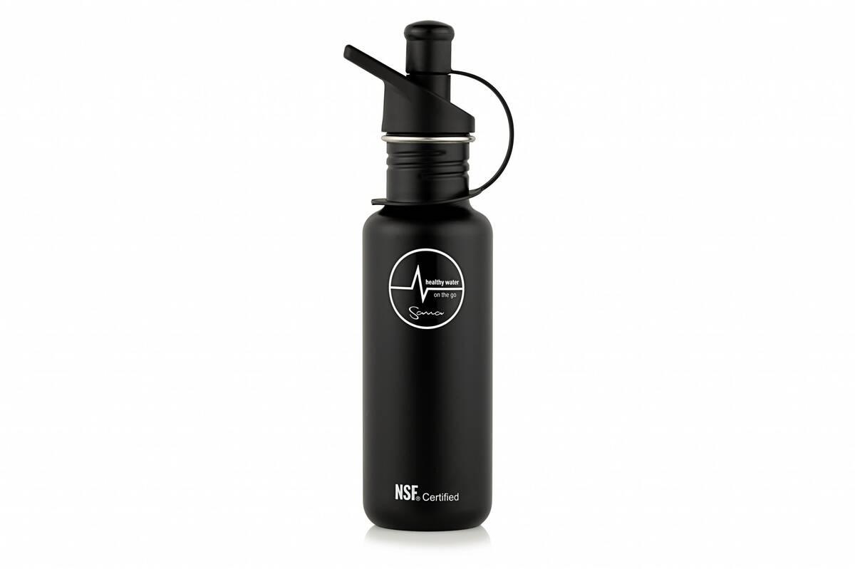 Sana stainless steel bottle black